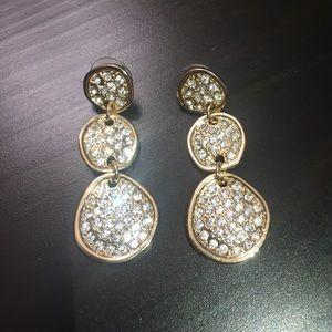 Baublebar Crystal triple drop earrings